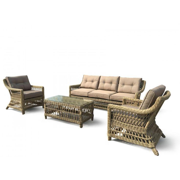 Mölle konstrotting set med tre sits soffa och två fåtöljer