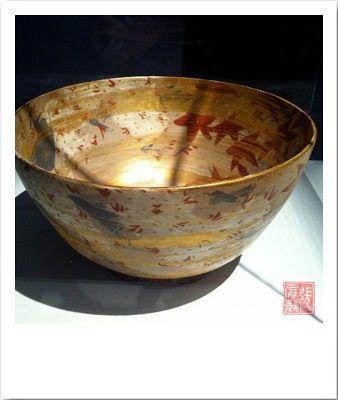 """Œuvre exposée lors de l'exposition """"L'art de Rosanjin, Génie de la cuisine japonaise"""" du musée Guimet"""
