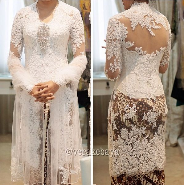 Indonesian White Lace Kebaya