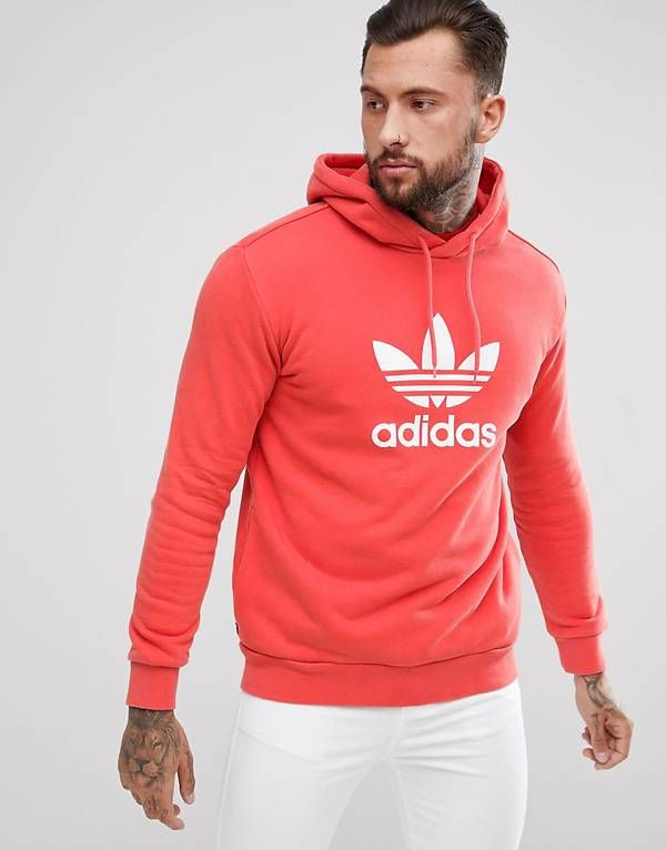 adidas Originals adicolor Hoodie With Trefoil Logo In Red