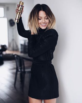 Edgy look | Turtle neck black shirt with high waisted skirt