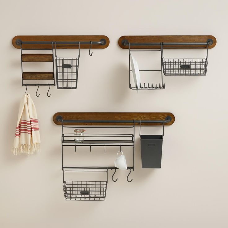 Kitchen modular kitchen wall storage collection kitchen wall organizer rustic kitchen storage choosing from two bar lengths s hooks to hang cookware