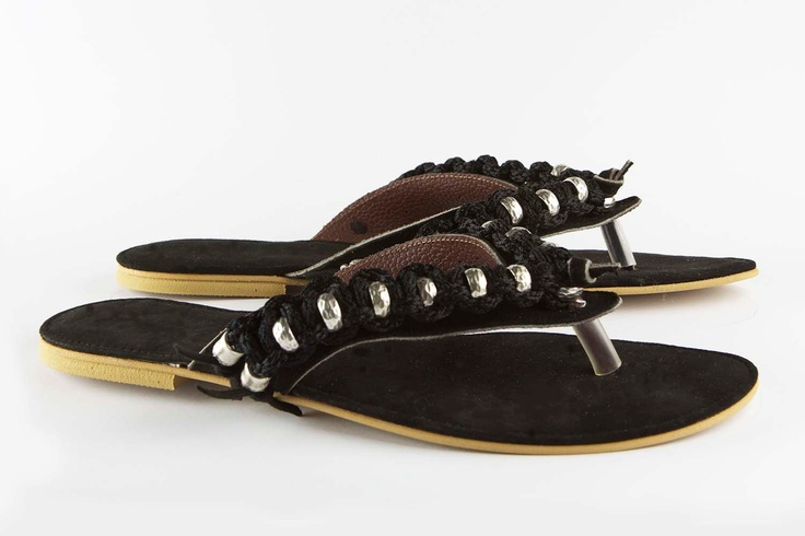 Jeweled leather sandal Cruising