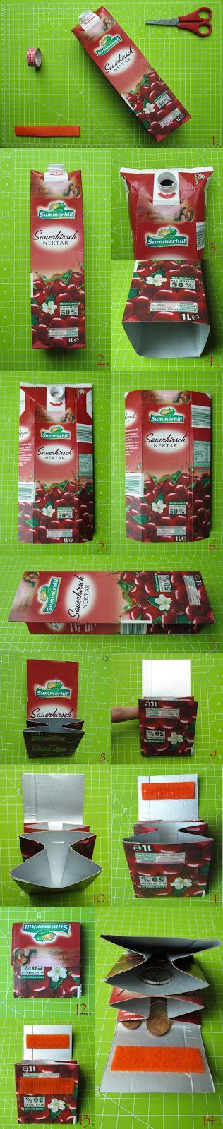 DIY Carton juice wallet