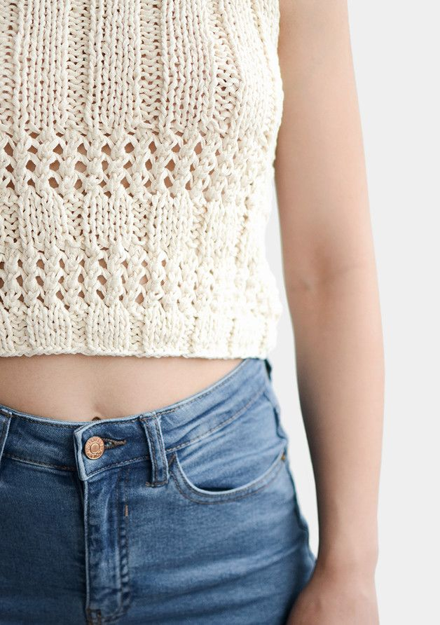 Tops – Sleeveless Knit Top – a unique product by plexida on DaWanda