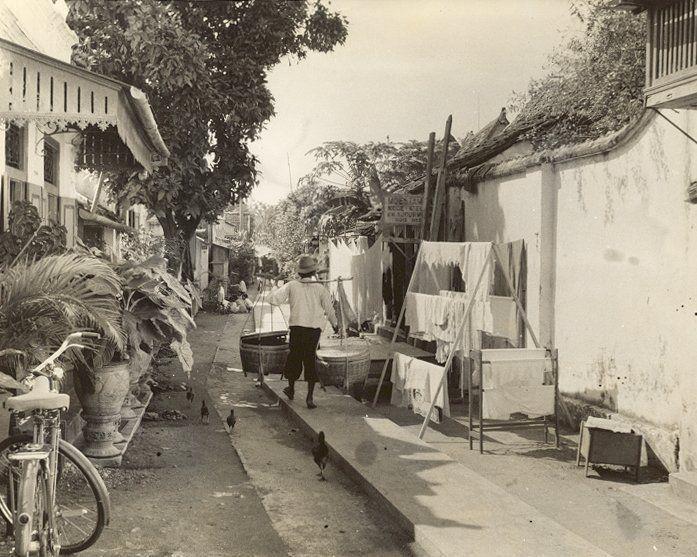 Straatbeeld, Surabaya, Java, Indonesië (1933)