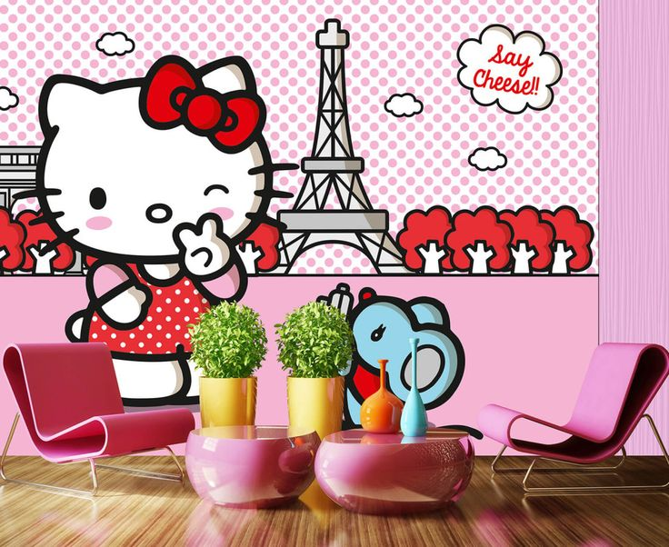 Cuttie Hello Kitty Wall Mural By WallandMore! Perfect For Your Girls  Bedroom. Part 88