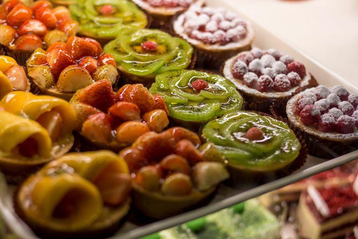 Fruit tarts and more are always on display at Hanoi's many bakeries. #gosquab #travel #vietnam #hanoi #bakery #fruittart