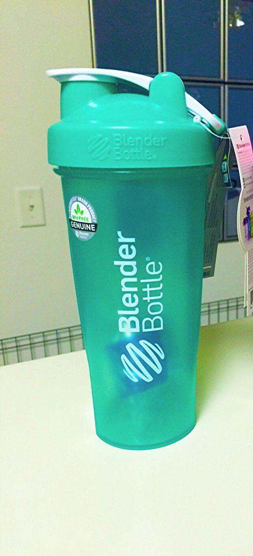 Mint blender bottle.