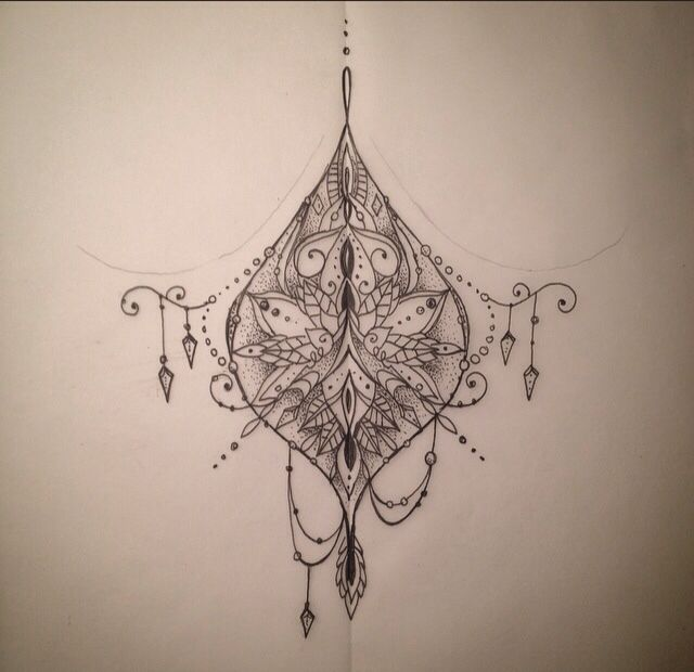Wouldn't do a sternum tattoo but like the design and asymmetrical danglies.