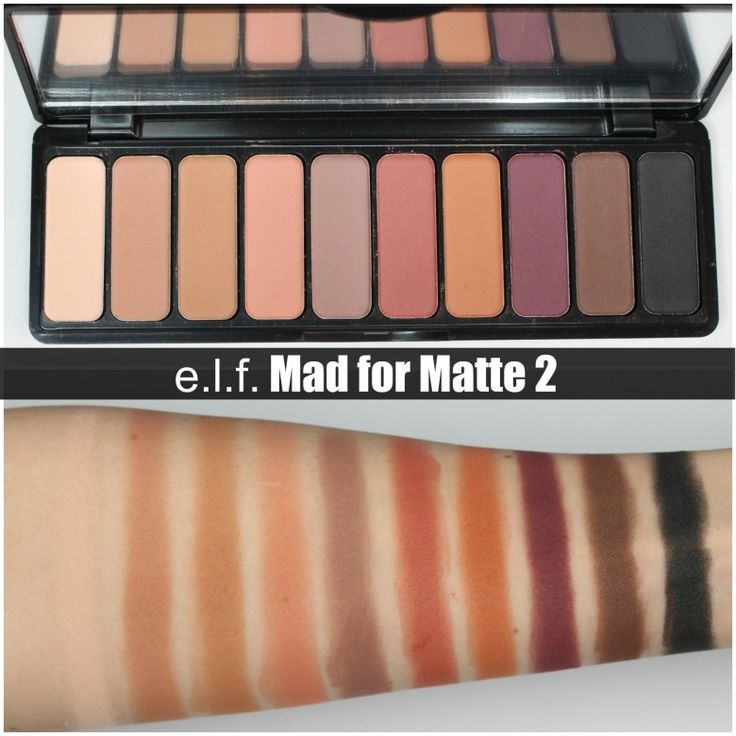 REVIEW & SWATCHES – e.l.f. Mad for Matte 2 Eyeshadow Palette