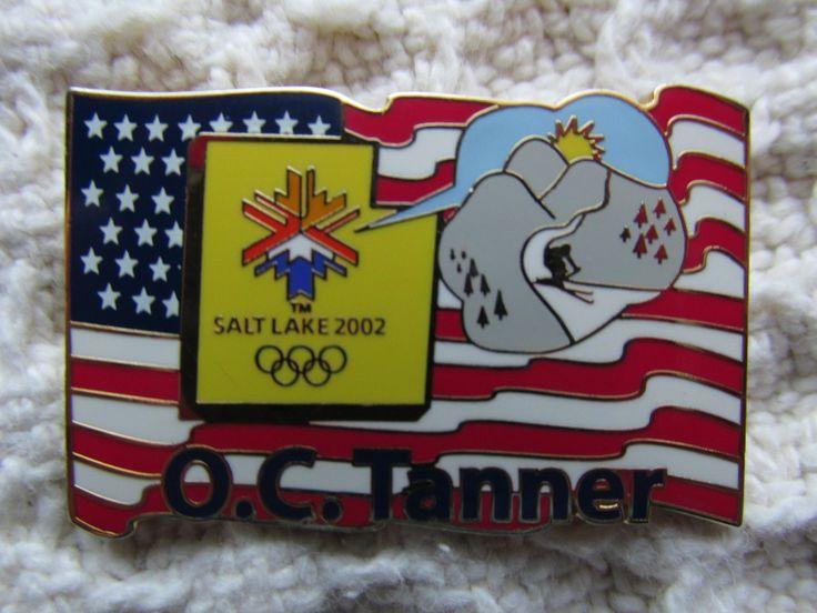 OC Tanner USA Flag Pin 2002 Salt Lake Olympics Sponsor Lapel Pin