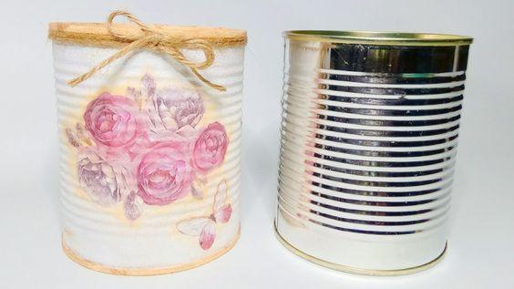 La técnica del decoupage, también para decorar latas