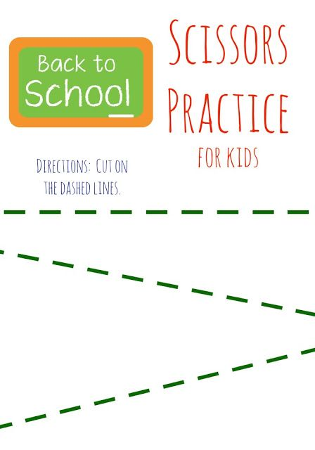 Simple Scissors Practice Free Printable Pages for Preschoolers || The Chirping Moms