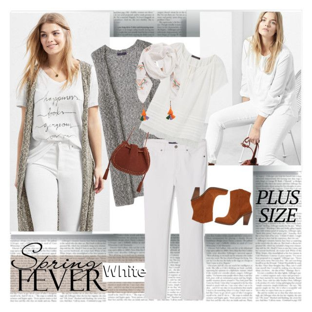 Spring Fever Plus Size White by stylepersonal on Polyvore featuring polyvore, fashion, style, Violeta by Mango, MANGO, clothing and springdate