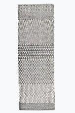 Hallway rug  Ellos Home Malin-matto 70x200 cm Musta/kermanvalkoinen, Sininen/kermanvalkoinen - Puuvilla- ja räsymatot   Ellos Mobile