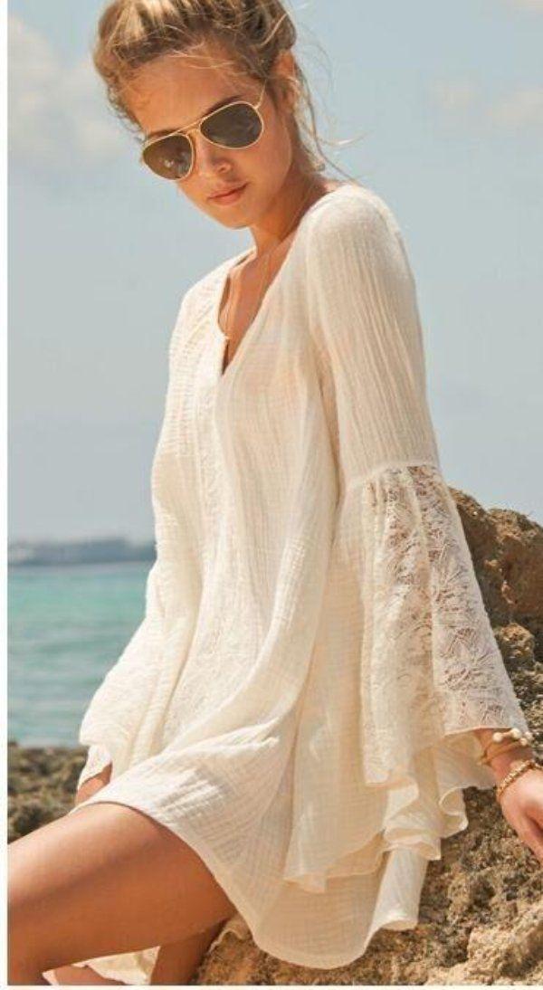6db122b75a6 Chic Lace V-neck Beach Dress- 2 Colors-Plus Size, Beach Dress, Boho Dress, Summer  Dress, Cover up, Beach Cover up Dress-Boho Beach Hut