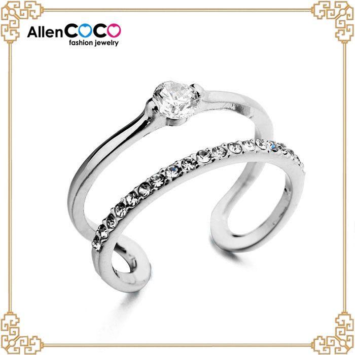 Мода в форме сердца костюм кольцо с 18 К позолоченные для мужчин палец кольцо платиновое кольцо цена