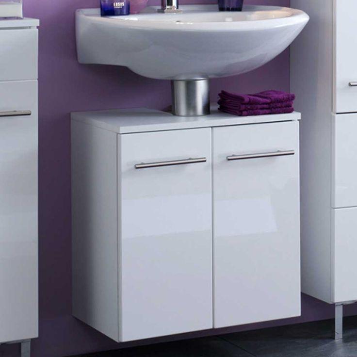 die besten 25 waschbeckenunterschrank weiss ideen auf pinterest duschvorhangstange eck. Black Bedroom Furniture Sets. Home Design Ideas