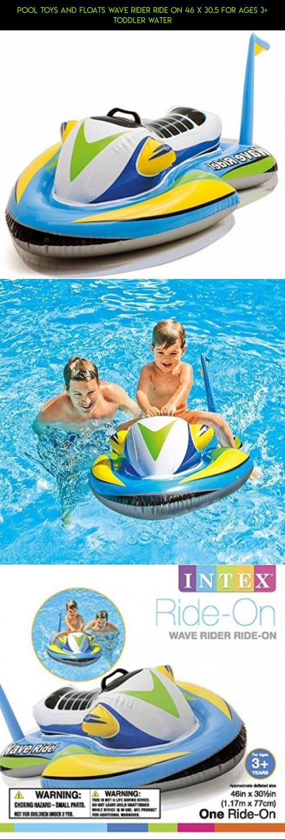Pool Toys and Floats Wave Rider Ride On 46 X 30.5 for Ages 3+ Toddler Water #drone #for #gadgets #technology #shopping #products #toys #kit #parts #toddlers #camera #plans #racing #fpv #tech #pools