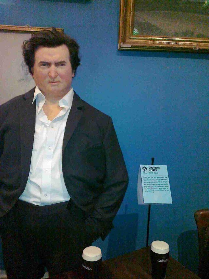 Wax figure of Brendan Behan, an Irish poet, story writer and novelist -National Wax Museum, Dublin, Ireland