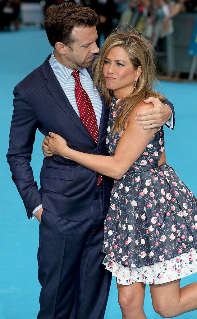 Jason Sudeikis and Jennifer Aniston at the London premiere of We're the Millers.
