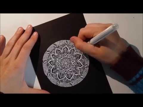How to draw a mandala - YouTube
