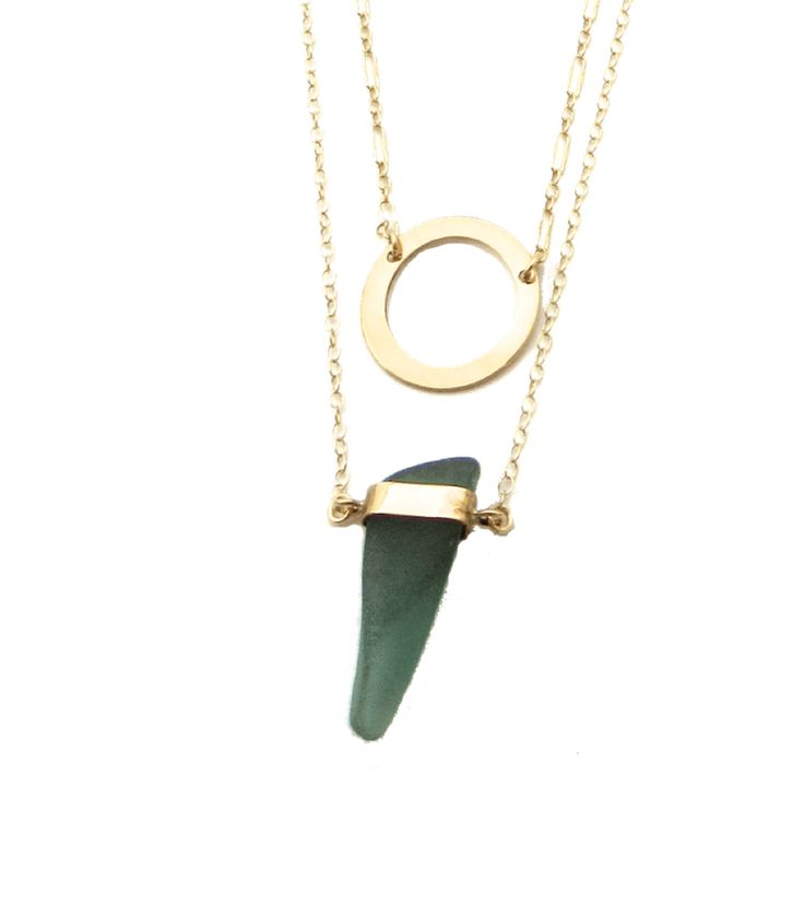 Manifest kindness with Jolene. This sea glass + gold necklace is handmade with love, with sea glass collected on the shores surrounding the Panama Canal.