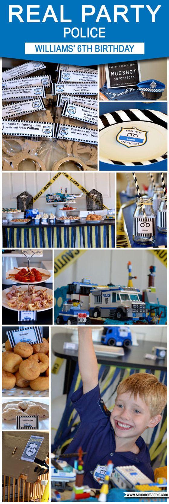 Williams' 6th Police Birthday Party | Police Birthday Party Ideas