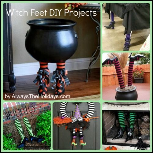Top Witches Feet DIY projects for Halloween #witchesfeet #witchlegs