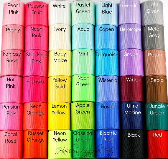 1-1/2 Zoll Solid Grosgrain Ribbon  Farbe von HairbowSuppliesEtc