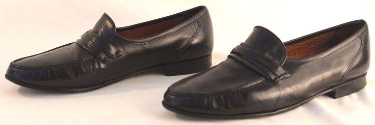 allen edmonds mens leather shoes black size 15 d dress