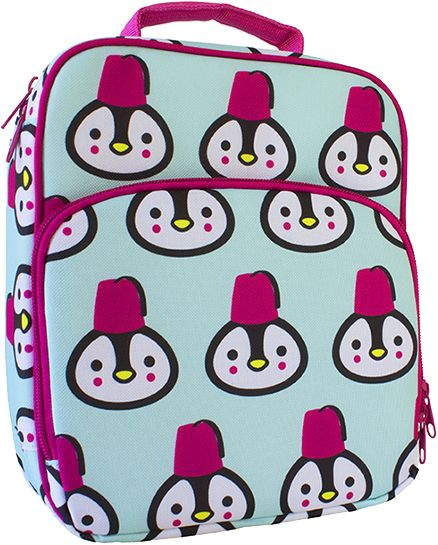 Bentology Lunch Bag, Penguin style, free of lead, BPA, Phthalates or PVC