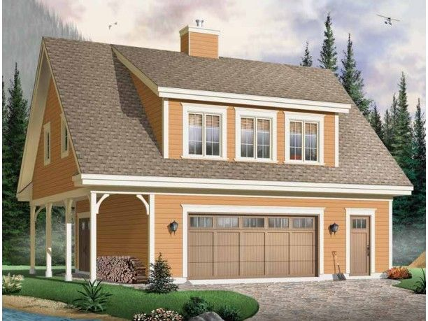 Craftsman plan 2 garage with 2 bedroom apt with for Two bedroom garage apartment plans