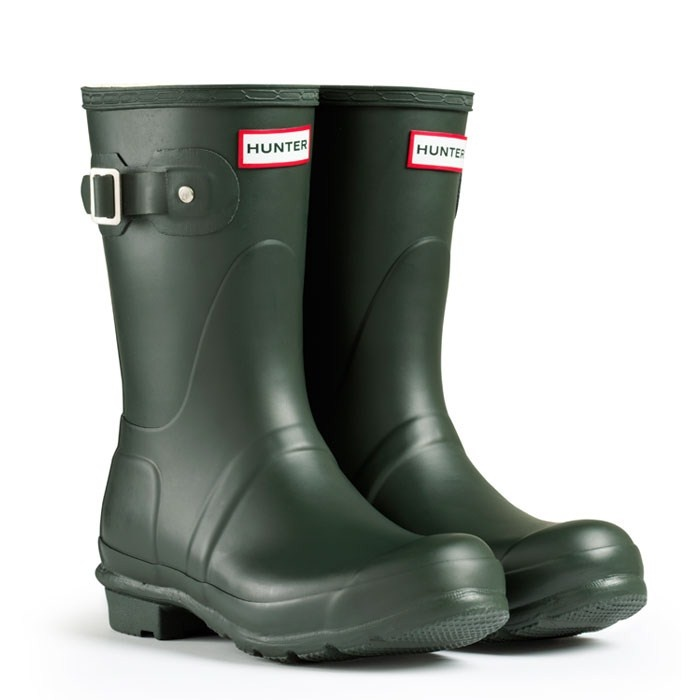 hunter boots, original short style in dark olive