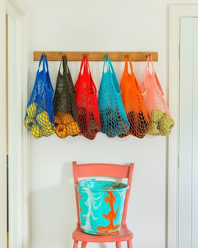 Day two of our week of REsolutions - we're ditching the plastic carrier bag and going back to good old string - we have some fab new colours in store and online! #stringbags #colourful #ditchtheplastic #getorganised #newyearresolutions #re #refoundobjects #recorbridge