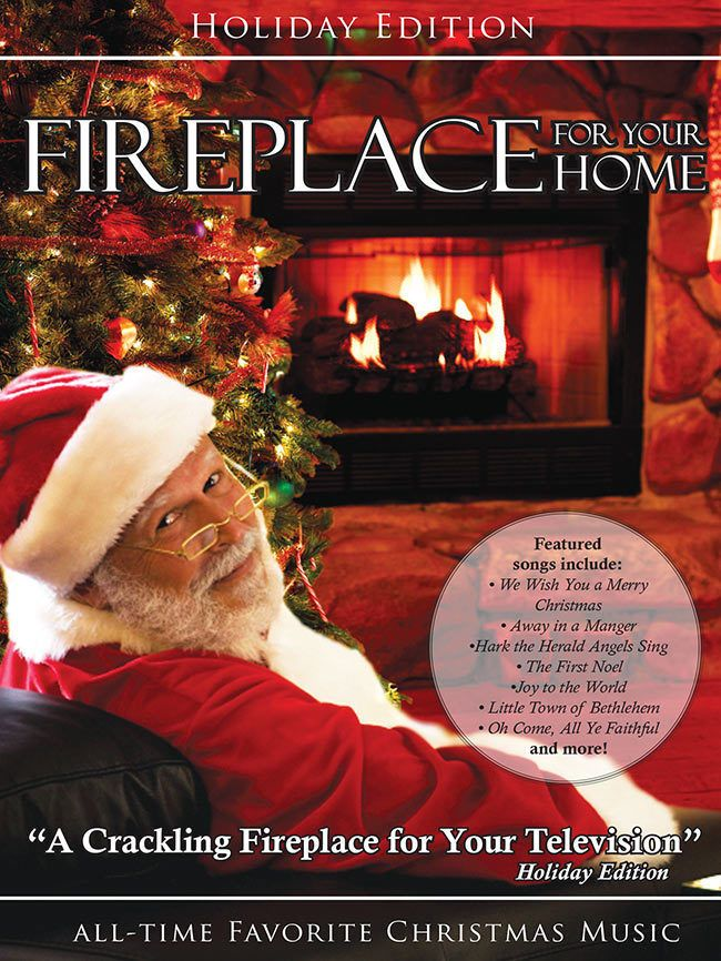 Crackling Fireplace Dvd Holiday Yule Log Edition With Christmas
