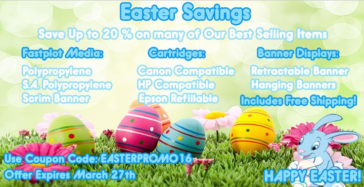 Easter Savings - save up to 20% on many of our best selling items