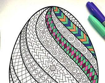 LOVE Heart - PDF Zentangle Coloring Page | Zentangle ...