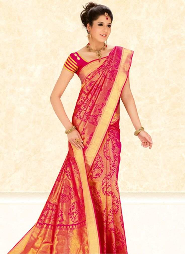 Golden Tissue Brocade Handloom Saree | Saree | www.cbazaar.com