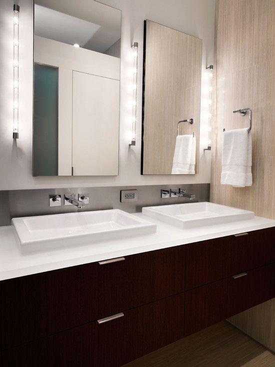 Stunning decoration with bathroom vanity clean minimalist bathroom vanity lighting ideas twin frameless mirror squar estate bathroom inspiration