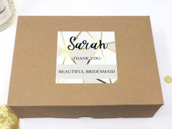 Personalised Bridesmaid Gift Box Filled Thank You Bridesmaid Etsy