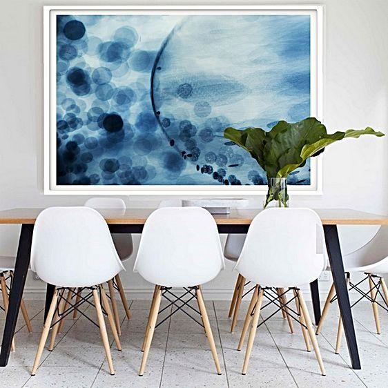 Midnight Swim Framed Print by Hoxton Art House