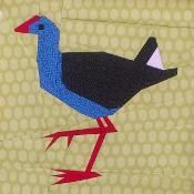 Pukeko 12 inch Paper Pieced Pattern - via @Craftsy