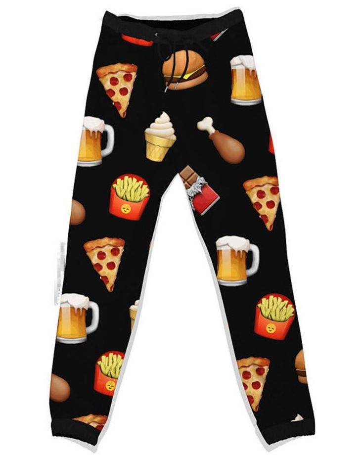 Women Men Personalized Emoji Joggers Pants Sports Fitness Yoga Gym Running Printed Casual Loose Pant 3D Cartoon Food Pattern Trousers, $18.1   DHgate.com