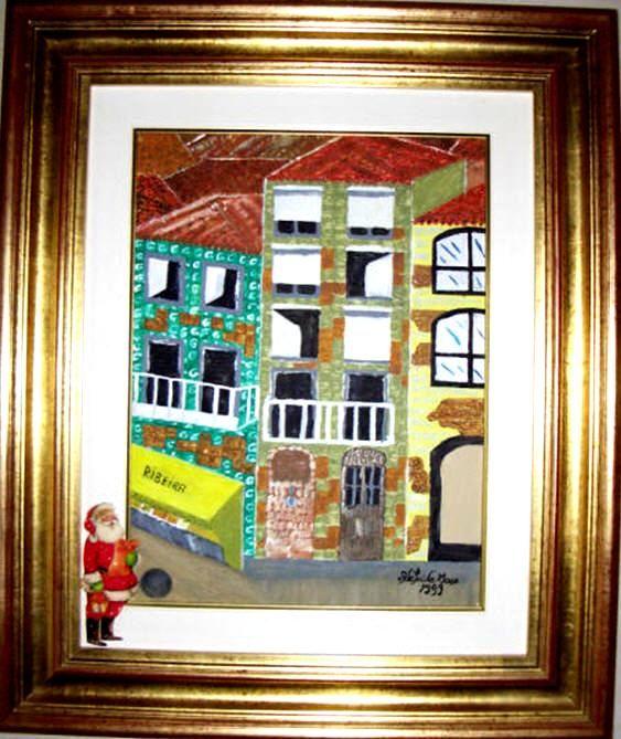 Invicta, loja na Ribeira.   Uma das primeiras obras da pintora Adelaide Moça  Pintado a óleo sobre tela.   Tamanho: 40*30 com Moldura 62,50*52,50 cm