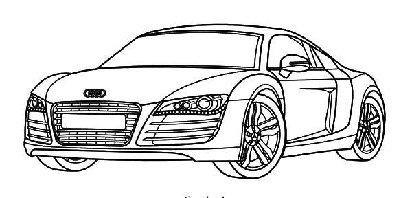 Audi R8 Coloring Pages Voiture Coloriage Dessin Voiture Coloriage Garcon