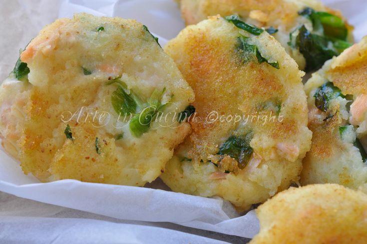 #Tortine salate di #patate e #salmone