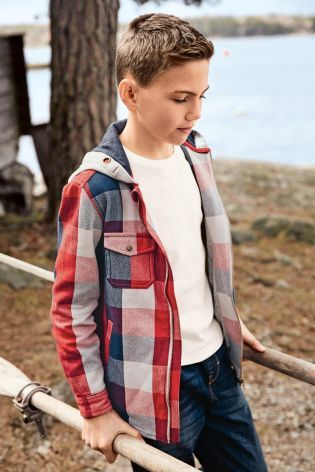 Buy Red Check Shacket (3-16yrs) from the Next UK online shop