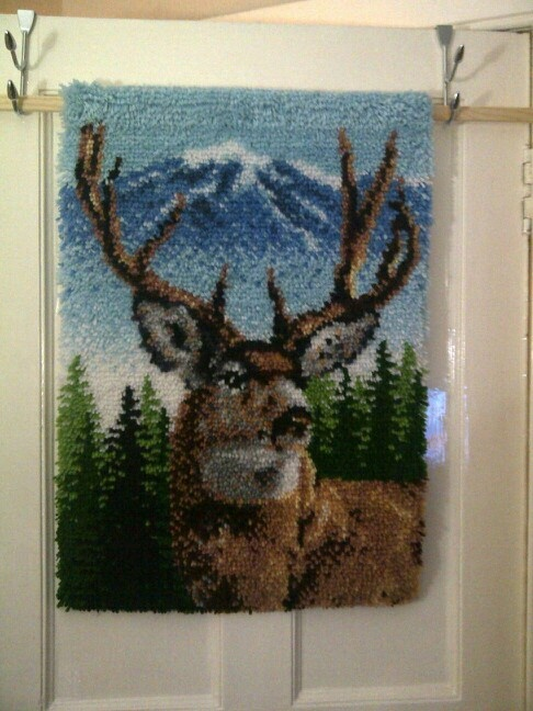 1st latch hook rug -- < found when I pinned ... http://www.pinterest.com/pin/507710557966348813/ . >
